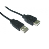 Short 12cm USB 2.0 A to A Extension Cable - 0.12 Metre